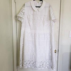 Modcloth Dresses - Modcloth White Lace Dress (4X)